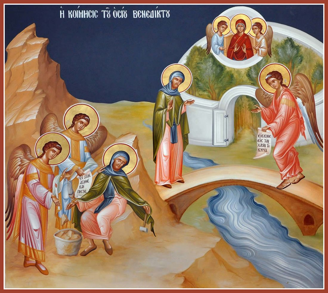 The assumption of Saint Benedict